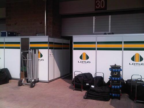 Lotus Racing garage entrance, Korea