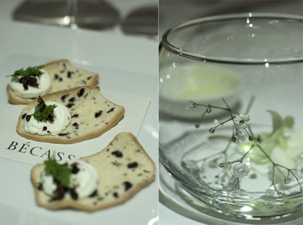 Olive Biscotti with Goat's Curd