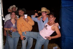 Hannah, Aaron, Levi, & Aimee @ the Warren Co. Fair in Warrenton, Mo. 7-7-10 (cowboy chris bbq) Tags: girls hot cute sexy beer hat promotion festival female marketing promo women cowboy legs boots sauce country festivals wranglers fair bbq mo missouri barbecue casual barbeque boothbabes cowgirl brunette countyfair cowboyhat promotional outlaw cowboyboots warrenton bbqsauce boothbabe promotionalmodel warrencountyfair promotionalmodels missourimade madeinmissouri cowboychrisbbq outlawwomen