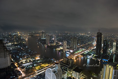Bangkok River and Road (kkdlam) Tags: road city longexposure roof sky color building bar night river landscape thailand lights restaurant hotel nikon asia long open view nightshot bangkok structure southeast 2010 cityspace lebua d700 nikon2470mm nikond700