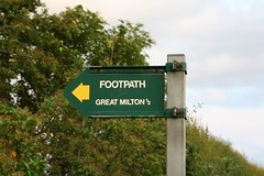 great milton footpath