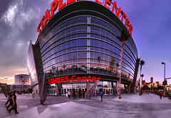 Staples Center Panorama (zerega) Tags: show california sunset panorama music usa color colour building tree glass basketball sport architecture america computer nhl la hall losangeles concert downtown wide entrance award wideangle palm arena event entertainment immersive conventioncenter lax curve sparks figueroa nba lakers staples stitched grammy siggraph clippers avengers computergraphics afl staplescenter multipurpose losangeleslakers losangelessparks losangeleskings losangelesclippers losangelesavengers immersiveimaging lppurple