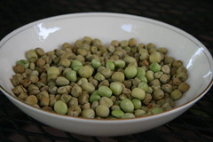 a bowl of peas