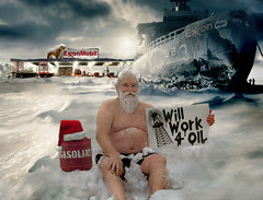 Homeless Santa (AZRainman) Tags: santa ship north gas pole arctic nicholas oil claus fuel icebreaker exxon azrainmancom
