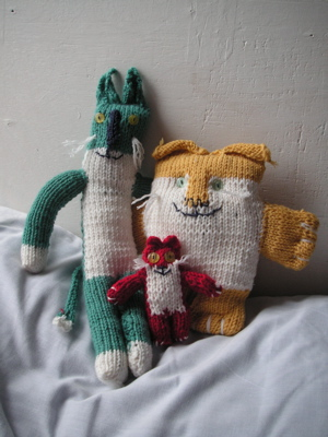 Finished Knitting My Cats!
