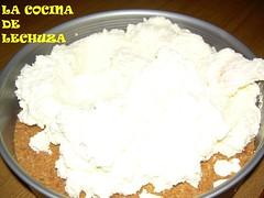 Tarta queso mezcla en base