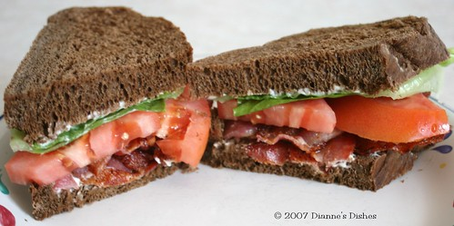 BLT on  Pumpernickel
