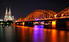 cool colonia @ night (cool_colonia4711) Tags: longexposure bridge light night train licht nightshot cathedral nacht dom steel cologne eisenbahn zug kln colonia railroadbridge brcke rhine rhein railwaybridge nachtaufnahme eisenbahnbrcke klnerdom colognecathedral stahl langzeitbelichtung 4711 hohenzollernbrcke hohenzollernbridge phvalue