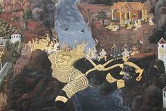 This Ramayana Mural Was F-ing Amazing 10 (The Swift) Tags: mural bangkok ramayana