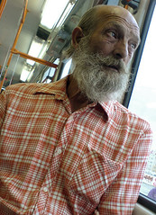 Old man on tram (morten almqvist) Tags: old portrait man ericsson sony tram w810i