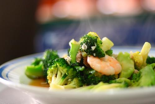 Prawn with Broccoli