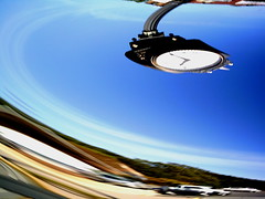 Hang Time (Right Brain | Chris Piazza) Tags: abstract art clock bend surreal cameratoss rollingshutter kineticphotography hangtime rightbrain abstractphotography softclock clocktrippin