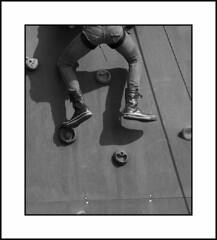 Abseiler's descent (antwerpalan) Tags: girls blackandwhite black sport aj women legs monotone delicious antwerp abseiling antwerpen amberes anvers googleimages visiongroup antwerpalan alandean photosbyalandean photosbyantwerpalan