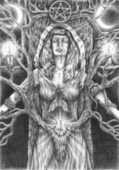 Nature Goddess (winkledawolf) Tags: pentacle pagan sacredtree naturegoddess paganartwork