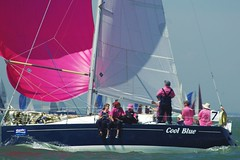 Cool pink? (Chalto!) Tags: people water boat sailing wind isleofwight solent cowesweek iow 15challengeswinner