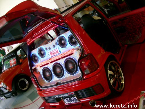 kancil modified sound system