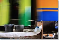 2 ember & kereta (rinidisini) Tags: orange green colors train bucket jakarta slump