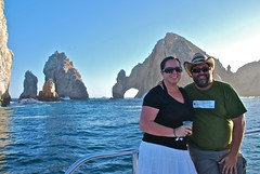Chris and Kristie and the Cabo Arch