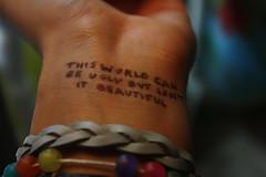 this world can be ugly but isn't it beautiful (Kara Bey) Tags: mannequin photo lyrics wrist jacks