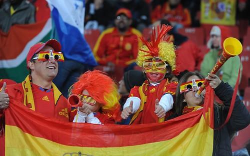Hinchas españoles Mundial Sudáfrica