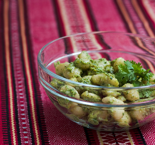 White Bean Salad with Georgian Cilantro Sauce