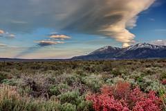 Sierra Sky (matthewkaz) Tags: california sky mountain snow mountains clouds highdesert rays mammothlakes sierranevada 2010 easternsierra convictlake