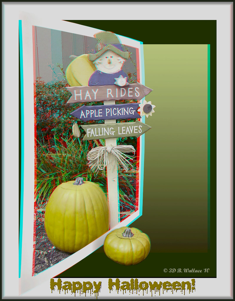 Happy Halloween! (3D Anaglyph Color Version)