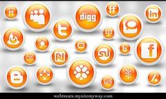 Webtreats 108 Free Glossy Orange Orb Social Media Icons (webtreats) Tags: graphicdesign icons magic marker freeicons socialmedia webresources webtreatsmysitemywaycom orangeorbsicons