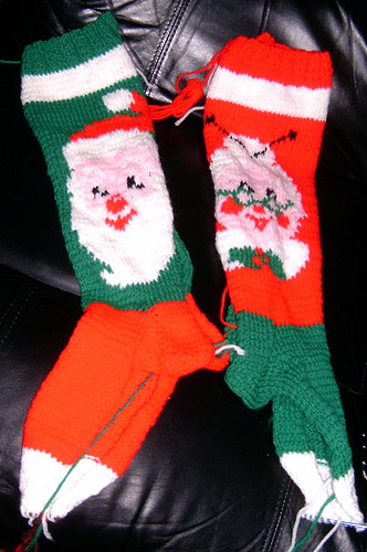 Mr & Mrs Santa Stockings