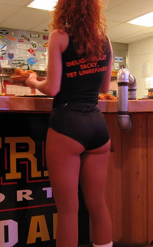 hooters girls candid