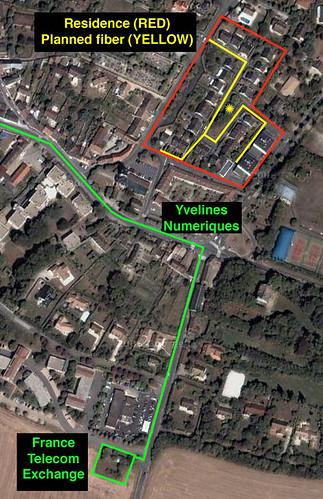 Saint Nom La Breteche FTTH Map
