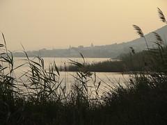 Vue de Ghar El Melh au coucher de soleil