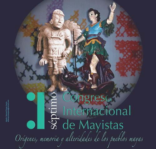 Part of the Poster for the VII Congreso Internacional de Mayistas in Merid, Yucatan