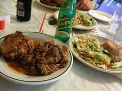 Jerk chicken and pork special