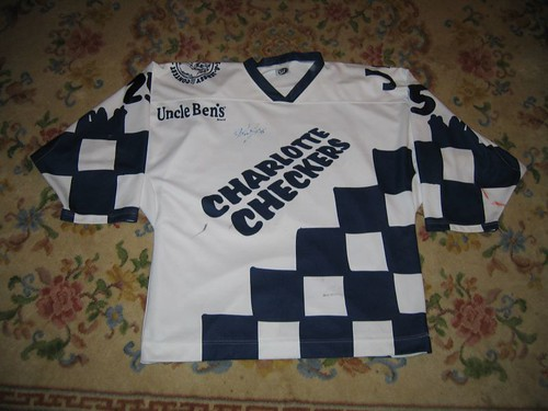 Charlotte Checkers 99-00 Richard Scott create-a-jersey front