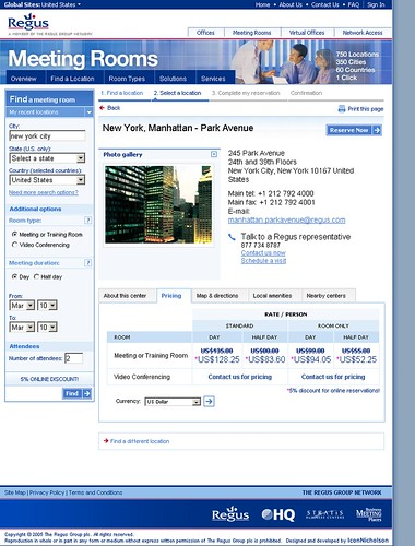 SML Flickr: Regus.com / Regus Group / Screen 4 of 4 / Search Results - Location Detail / 2005 / SML Graphic Design