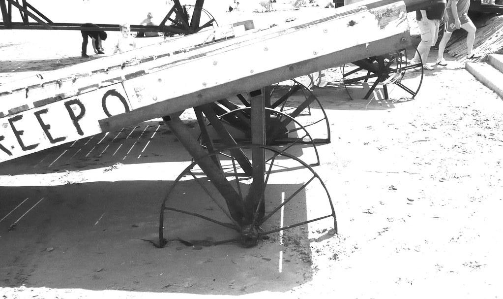 Wheels in sand