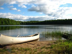 Heaven on earth! (ET Photo Home!) Tags: camping trees camp lake beach water clouds sand heaven earth paddle canoe canoeing blueribbonwinner aplusphoto diamondclassphotographer boselake