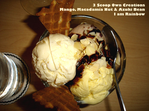 Haagen Dazs 3 scoops Own Creation