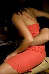 30/08/07 (Sagrado Corazn) Tags: red woman man love couple dress hugh lap embrace hold tenderness reddress maocarrera