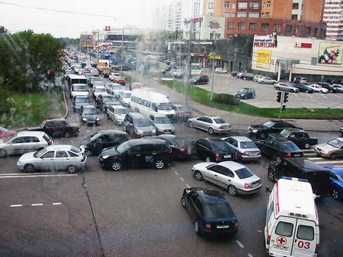Het is te hopen dat de infrastructuur in Rusland bestand is tegen zoveel auto's