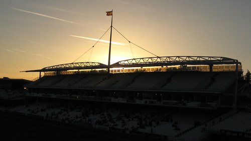 The Grand Stand at Lord's at Dusk