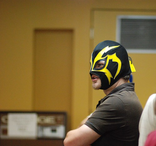 Masked wrestler by wkedwards.