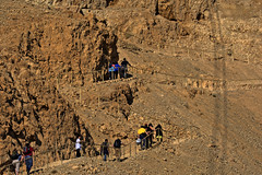 masada   the snake path    _ (A   M) Tags: travel mountains car site path snake steel cable unesco journey isreal masada         aracyologi