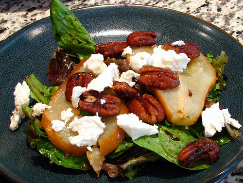 Caramelized Red Pear Salad