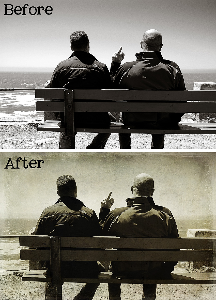 Old Friends Before and After