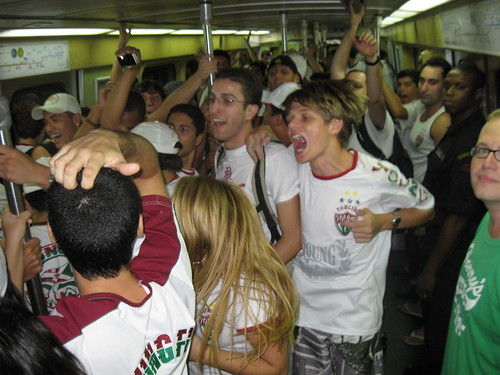 The subway ride to the game