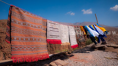 Carpets' Drying in the Dades Valley (Beum Gallery) Tags: sky carpet tapis bluesky row ciel valley getty gettyimages drying valle cielbleu dades range schage dads       availableforlicenseongettyimages