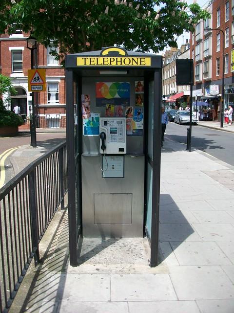 Phone box, Cleveland Street, Fitzrovia