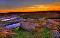 Start to the day at higger tor (chris.horne66) Tags: england sky water sunrise landscape nikon derbyshire peaks hdr d300 higgertor